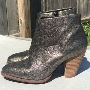 ALDO Ladies Bootie Ankle Boots Sparkle Metallic